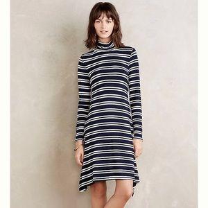 ANTHROPOLOGIE maeve navy white striped dress✨S